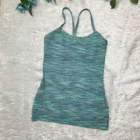Lululemon Green Tank Top with Compression Bra